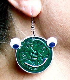 orecchini pendenti rana verde di easywom su Etsy, $10.00
