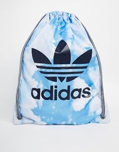Adidas originals   Drawstring Backpack in Cloud Print