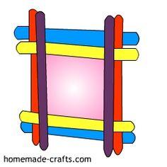Popsicle Stick Frame Craft - Homemade-Crafts.com