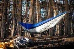 serac ultralight camping hammock in the woods