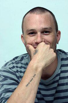 "Heath Ledger's ""Old Man River"" tattoo"