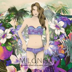 MILONGA GIRL / Illustration for Milonga Swimwear  #illustration #drawing #paint #fashion #girls #heart #moda #girl #pencil #style #painting #love #colorful #beauty #graphic #design #ilustracion #flower #girly #cute #watercolor