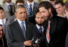 President Obama and The SF Giants #40 Madison Bumgarner