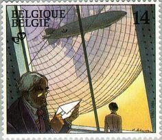 Belgien 1991 - Cité obscures Stamps, Comics, Animals, Belgium, Postage Stamps, Seals, Animales, Animaux, Stamping