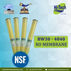 4040 Commercial RO Membranes. http://www.hitechmembranes.com/product/bw30-4040-le-ro-membrane/