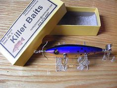 Killer Baits Heddon Little Sac Style150 5 Hooker Minnow in Tropical Berry Color