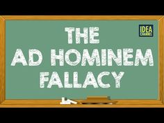 The Ad Hominem Fallacy | Idea Channel | PBS Digital Studios - http://www.knittingstory.eu/the-ad-hominem-fallacy-idea-channel-pbs-digital-studios/