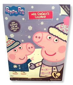 Peppa Pig is also looking forward to Christmas - 2016 Peppa Pig Advent Calendar - Nut Safe Made in UK