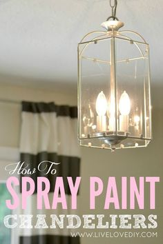 This isMy Top 10 Thrift Store Shopping Tips: How To Decorate on a Budget Spray Paint Tips, Chrome Spray Paint, Spray Painting, Painting Tips, Spray Painted Chandelier, Painting Chandeliers, Diy Chandelier, Painting Light Fixtures, Office Makeover