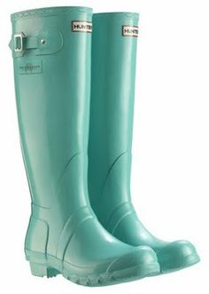Hunter boots or in Tiffany Blue