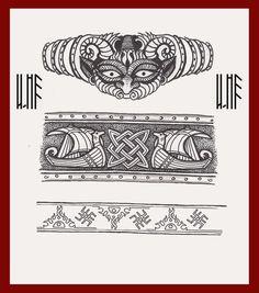 Slavic Tattoo Slavic Tattoo, Pagan Tattoo, Celtic Symbols, Celtic Art, Celtic Tattoos, Viking Tattoos, Rabe Tattoo, Wrist Band Tattoo, Nordic Tattoo