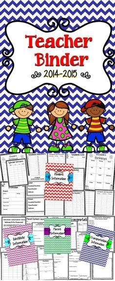 Making Organization Easy For Teachers! This Teacher's Binder Will Help You Throughout The School Year!!! #School   #TpT