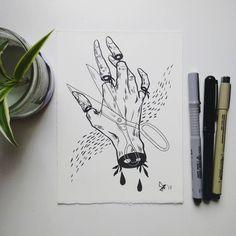 Pin by rose on art in 2019 dibujar arte, dibujos a tinta, di Dark Art Drawings, Art Drawings Sketches, Boca Anime, Creepy Art, Inspirational Artwork, Sketchbook Inspiration, Pen Art, Cute Art, Art Inspo