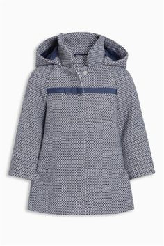 Navy Hooded Coat (3mths-6yrs)