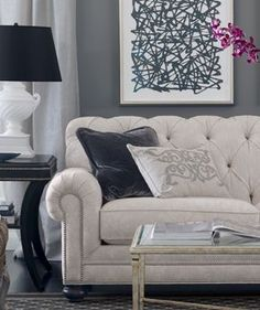 pretty sofa. Ethan allen, want this sort of stye for my formal living room when I get a house one day.