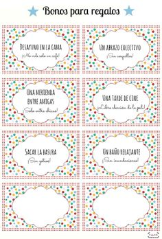 Imprimible bonos para canjear para el día de la madre | Vale regalo imprimible día de la madre | Mother's day coupons | Printable for mother's day gift | Favor cards