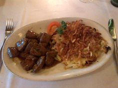 Rösti with fresh calf's liver and shallots, roasted in butter @ Restaurant Dörfli