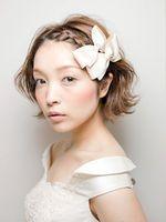 画像 : 【かわいい】結婚式・披露宴・パーティーなどで役立つショートヘアアレンジ♪【ヘアスタイル・髪型】 - NAVER まとめ