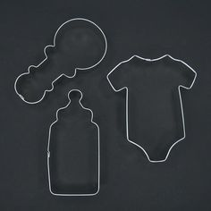 Baby Onesie Rattle Bottle Cookie Cutter Set for Boy Girl Baby Shower Party Favors Gift Decoration