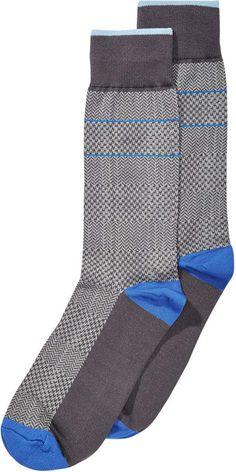Argyle Men Ralph Lewis 6 Pairs Design Pattern Casual Dress Suit Cotton Soft Crew Socks