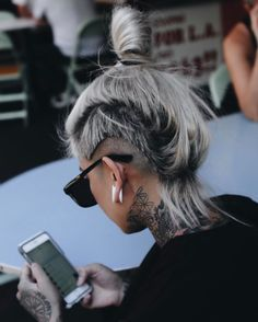 Haircut Short Hair Undercut Colour Ideas in 2020 Short Hair Undercut, Short Hair Cuts, Haircut Short, Undercut Styles, Dreadlocks Undercut, Long Hair Mohawk, Undercut Tattoos, Girl Undercut, Alternative Hair