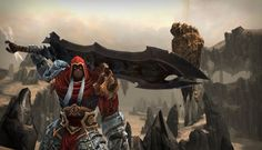 Darksiders – jeu sorti en 2010 sur Xbox 360, PS3 et PC, développé par Vigil Games et édité par THQ – est un jeu d'action/aventure où l'on incarne War, un des quatre Cavaliers de l'Apocalypse. War (qui dans la version française, est appelé «Guerre») est envoyé sur Terre afin de rétablir l'équilibre sur la planète. Celui-ci permettrait aux humains de... Lire la suite »