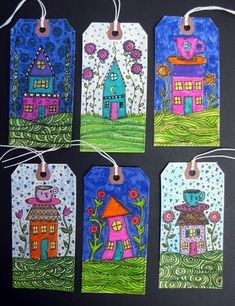 The Sketchbook Challenge: Can't Resist Making Houses