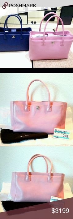 Auth CHANEL 2015 Cerf Tote Authentic CHANEL Executive Cerf Tote 2015 collection Super Rare Color- Dusty Pink Color For the elegant ambition woman, there's no better bag than the Chanel Cerf tote Front pocket secured with an interlocking CC lock Large pocket resides on the rear panel Magnetic snap closure Pre-loved in Great condition  *Trade Value $3700 CHANEL Bags
