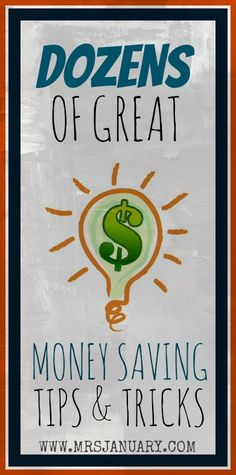 Whether you're looking to save money or make money, you MUST check out this post. It is absolutely jam-packed with useful personal finance tips, tricks and tactics.