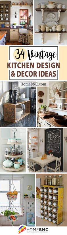 Retro Kitchen Decor Ideas Unique 34 Best Vintage Kitchen Decor Ideas and Designs for 2020 Retro Kitchen Decor, Kitchen Decor Themes, Farmhouse Kitchen Decor, Wooden Kitchen, Kitchen Ideas, Vintage Farmhouse, Kitchen Wallpaper, Home Decor Inspiration, Decor Ideas