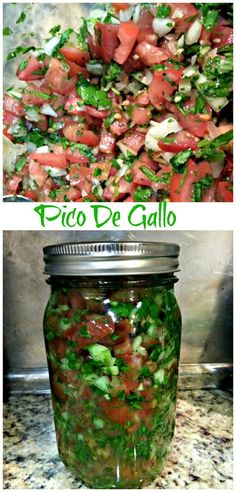Homemade pico de gallo! Love using fresh produce from the garden to create this great summer recipe.