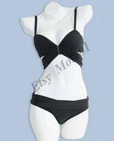 Triangular bikini steel prop gather, two-piece split,hot springs bathing suit swimsuit, beach women swimwear,  add Sexy lingerier.     B016