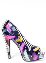 Pop Guns Spiked High Heels at PLASTICLAND || right up your alley @Kendra Mercer  & @sherry thomas
