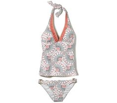 Joe Fresh Print Ruffle Tankini Top & Print Buckle Bikini Bottom
