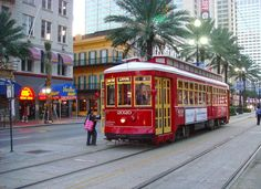 street car on Canal Street in New Orleans, Louisiana