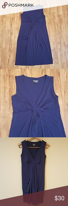 Blue Ann Taylor Pullover Dress Stretchy Pullover Ann Taylor dress. Blue. A couple blemishes pictured,  but very very small! 16 inches pit to pit and 35 inches top to bottom (flat). Ann Taylor Dresses Midi