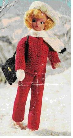 Free Barbie knitting patterns Doll knitting patterns ski outfit