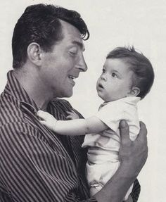 Dean Martin with daughter Gina - undated MR
