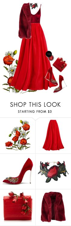 """Monochromatic New Year: Red"" by melisafash on Polyvore featuring Reem Acra, Concrete Minerals, Nancy Gonzalez and Boohoo"