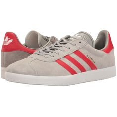 adidas Originals Gazelle (Medium Grey Heather Solid... (1.068.400 IDR) ❤ liked on Polyvore featuring men's fashion, men's shoes, men's sneakers, mens shoes, mens sneakers, mens tennis shoes, mens white shoes and mens tennis sneakers