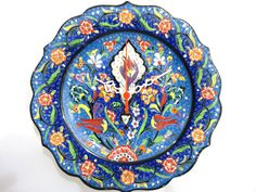 Wall Clock Ceramic Turkish tiles Anatolian by WallClocksbyimagine, $58.00