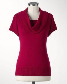 Deep cowl duet sweater - [K14841]