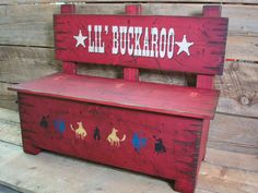 Toy box bench Kid's storage for toys and by WorkHorseFurniture, $342.00