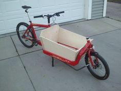 Bullitt Box Bike Build - Imgur Bullitt Bike, Cargo Bike, Wheelbarrow, Trending Memes, Funny Jokes, Transportation, Bicycle, Play, Google