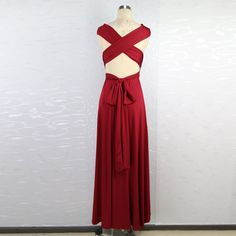 Hot 2016 summer sexy women maxi dress red bandage long dress sexy Multiway Bridesmaids Convertible Dress robe longue femme (20)