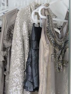 Wedding Ideas: silver-sparkle-closet