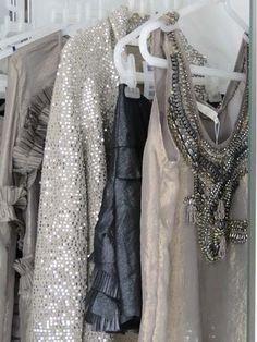 Wedding Ideas: silver-sparkle-closet