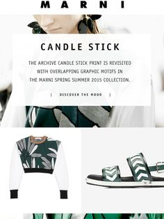The Candle Stick Print - Spring Summer 2015 - Marni