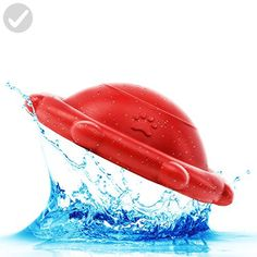 BITE: BallBee (Ball/Frisbee); Floating Pool Toys for Dogs – Durable Rubber Water Toys (Size: Medium Dog Toys) (Color: Red) - For our pretty pets (*Amazon Partner-Link)