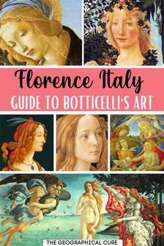 Planning a trip to beautiful Florence? If so, this is the ultimate guide to the famous paintings of Sandro Botticelli in Florence. These iconic paintings are housed in Florence's must visit destinations, including the iconic Ufizzi Gallery. Botticelli was the foremost artist of the early Reanissance. HIs Birth of Venus and Primavara are must see masterpieces in Florence, a must do on your Florence itinerary or bucket list. Renaissance Art | What To Do and See in Florence | Florence…